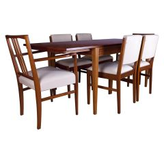 Gordon Russell Tulip Wood Dining Table with Chairs British