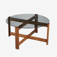Midcentury Teak & Glass Coffee Table by Myer c.1970