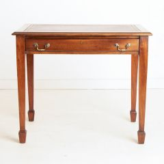 Antique Leather Topped Mahogany Writing Table c.1890