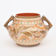 Hand Decorated Art Deco Crown Ducal Bowl by Charlotte Rhead c.1920