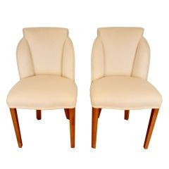 Pair of British Art Deco Cloud Back Chairs by Harry & Lou Epstein c.1930