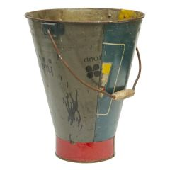 Bucket Made from Recycled Metal Storage Containers