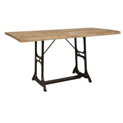 Sail Loft Sewing Machine Base with Distressed Pine Top