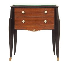 Midcentury French Mirrored Top Commode