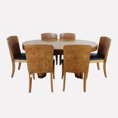 Art Deco Dining Table & Chairs by Harry & Lou Epstein c.1930