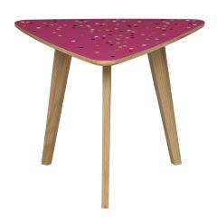 Disco Triangle Table by Lucy Turner
