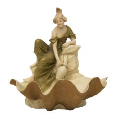 Royal Dux Bohemia Figure of Maiden Collecting Water c.1920