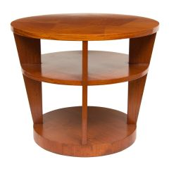 Art Deco Satinwood 3 Tier Table, French c.1930