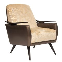 Midcentury Armchair Newly Upholstered in 'Technology' Fabric, Italian c.1960