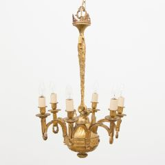 Early 19th Century Gilded & Brass Centre Light