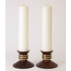 French Pair of Art Deco Modernist Candlesticks by Louis Prodhon c.1930