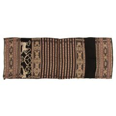 Early 20th Century Man's Ikat Sarong with Bead Work from Sabu, Indonesia