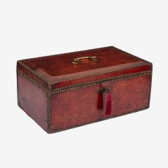 George III Red Leather Despatch Box c.1800