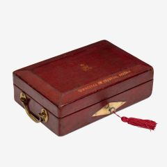 Early George V Wickwar Red Leather Despatch Box