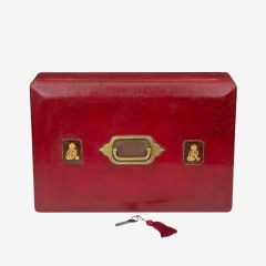 George V Red Leather Governmental Despatch Box