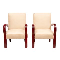 Pair of French Art Deco Armchairs c.1930
