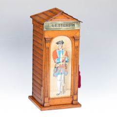 Edwardian Oak Post Box in the Form of a Sentry Box