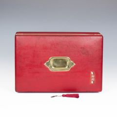 Early 20th Century Red Dispatch Documents Box