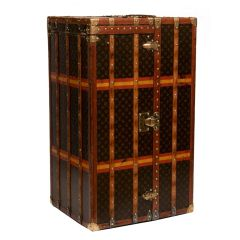 Vintage Louis Vuitton Malle Armoire Wardrobe & Chest of Drawers Trunk c.1910