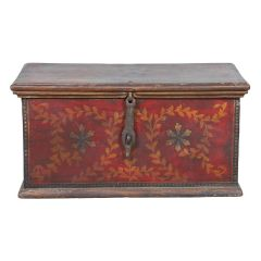 Early 20th Century Painted Trunk from Gujarat