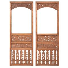Pair of 19th Century Indonesian Carved Teak Wall Panels