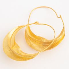 Pair of Fulani Gold Plated Silver Earrings