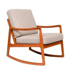 Midcentury Rocking Chair by Ole Wanscher for France & Son c.1960
