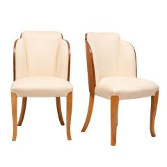 British Art Deco Cloud Back Chairs by Harry & Lou Epstein c.1930