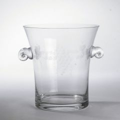 Vintage French Glass Ice Bucker