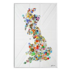 'It's a Big Country' Mixed Media UK Map Artwork by Keith Haynes