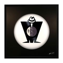 'M is for MADNESS' Mixed Media Vinyl Artwork by Keith Haynes