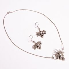Mexican Silver Pendant Necklace & Earrings