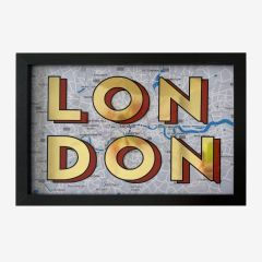 Framed Hand Painted London Sign