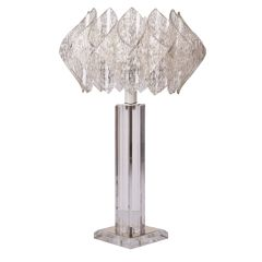 Midcentury Design Lucite Table Lamp Germany c.1960