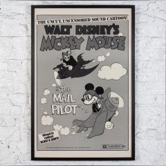 Mickey Mouse 'The Mail Pilot' - Original US One-Sheet Movie Poster - Framed