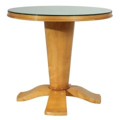 French Art Deco Table with Mirrored top c.1940