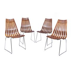 Midcentury Dining Chairs by Hans Brattrud for Hove Mobler c.1960