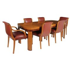 British Art Deco Dining Table And Chairs c.1930