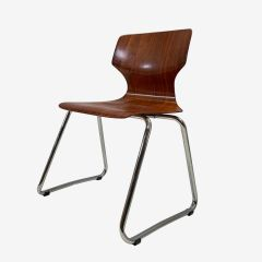 Midcentury Stacking Dining Chair by Elmar Flötotto c.1960