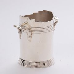 Art Deco Silver Plated Wine Cooler By Keith Murray For Mappin & Webb c.1930