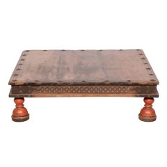 Indian 19th Century Bajot Low Table from Rajasthan