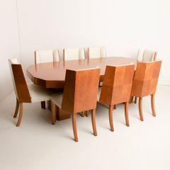 British Art Deco Dining Table & Chairs by Hille c.1930