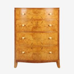 Art Deco Serpentine Front Chest of Drawers c.1930