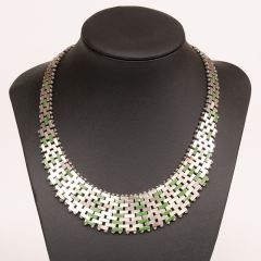 Articulated Necklace by Jakob Bengel in Maerwork Chrome c.1930