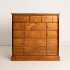 Arts & Crafts Ash Inlaid Chest of Drawers c.1900