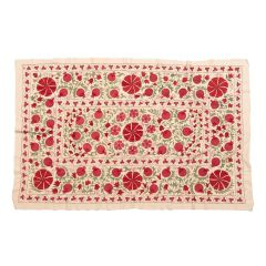 Suzani Cotton Bedspread with Silk Embroidery