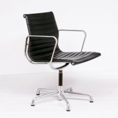 Black Leather Vitra Eames Office Chair