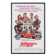 Vintage Cannonball Run Film Poster 1981