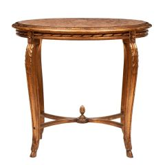 Carved Giltwood Occasional Table with Marble Top c.1900