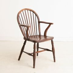 Mid Victorian Elm & Beech Hoop Back Country Cottage Chair